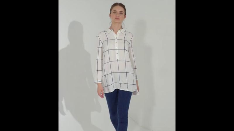 Рубашка из вискозы с эффектом жатки D29 663