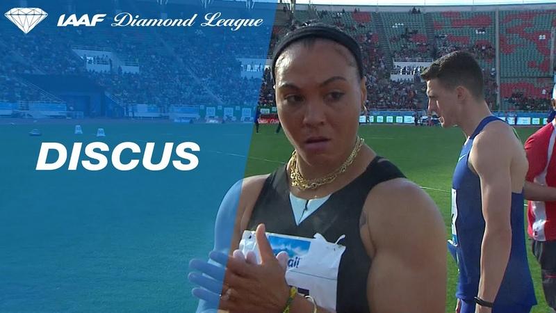 A meeting record for Yaimé Pérez in the discus throw at Rabat - IAAF Diamond League 2019