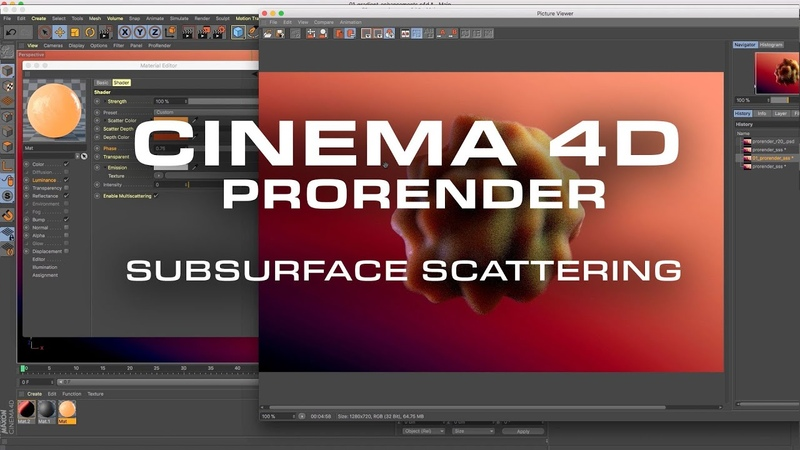 Cinema 4D ProRender Subsurface Scattering