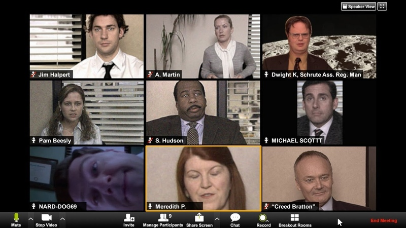 Dunder Mifflin Zoom Video Conference The Office COZI TV