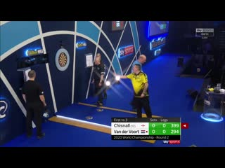Dave Chisnall vs Vincent van der Voort (PDC World Darts Championship 2020 / Round 2)
