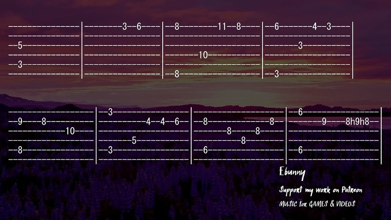 Medieval Music Celtic Fantasy Full Acoustic Guitar Tab by Ebunny Fingerstyle How to Play