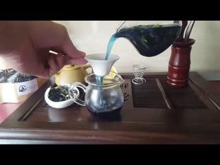 Обзор синего чая Анчан + эксперимент с лимоном