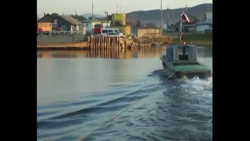 Усть Баргузинская переправа через реку Баргузин