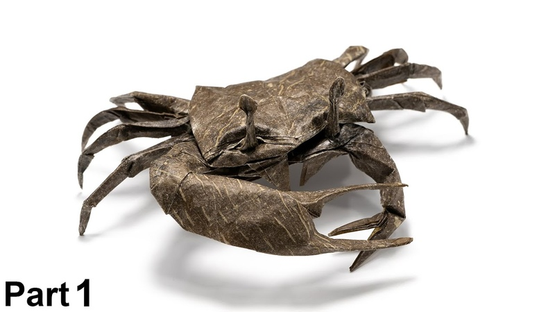 Origami Fiddler Crab tutorial (Satoshi Kamiya) part 1 折り紙 シオマネキ cangrejo