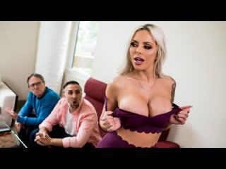 Nina Elle - Washing My Friend's Wife [Brazzers] Big Tits, Blowjob, Fake Tits, Milf, Tattooed