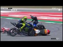 MotoGP Catalunya Insident Jorge Lorenzo,Valentino Rossi, Andrea Dovisioso Maveric Vinales Crash
