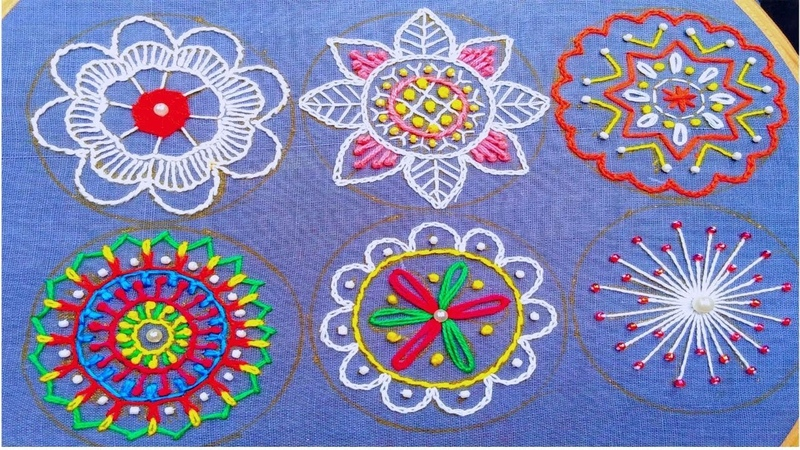 Hand Embroidery prime,Dandy embroidery,flower Embroidery tutorial 2019,फूल डिजाइन,ফুলের নকশা