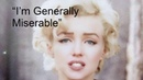 "I'm Generally Miserable"" RARE Marilyn Monroe Interview 1960"