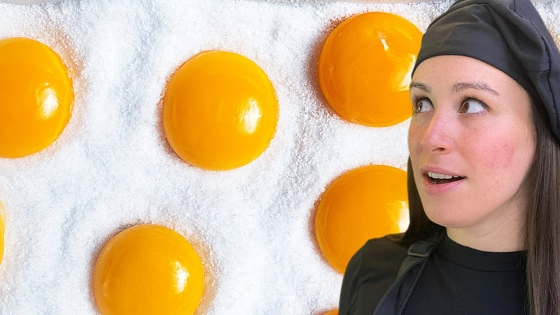 7 DAY Sugar Cured Egg Yolk 🍳 Ice Cream VIRAL EGG Recipes