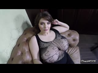 Xenia Wood - Obscenely Busty Up Close | Busty Girl Selfie Naked Fishnet