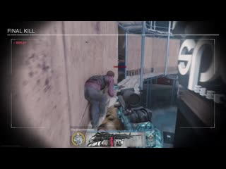 Never got to see a finishing move in the final kill slow-mo before! modern warfare