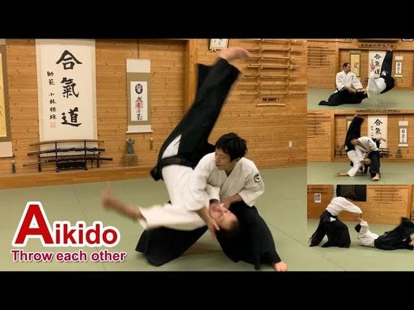 Dynamic and sharp Aikido - Shirakawa Ryuji shihan (Throw each other)