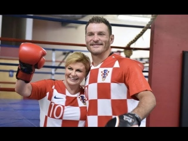 Stipe Miocic vs predsjednica Kolinda TRAINING FIGHT