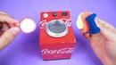 Increíble Mini Lavadora con latas de refrescos y motor dc