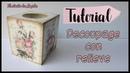 Decoupage con relieve de porcelana fría-Diy manualidades y mix media