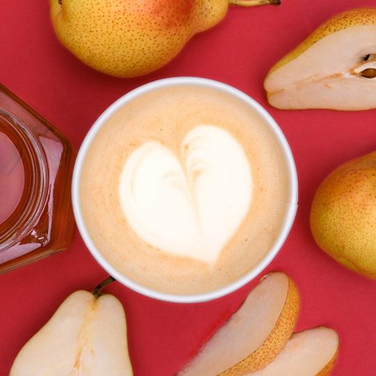 Ощути осень: Капучино медовая груша