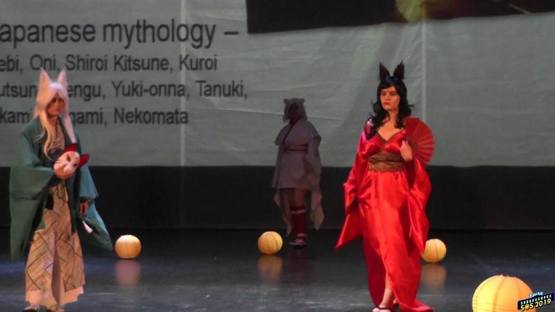 SOS 2019 Japanese mythology - Hebi, Oni, Shiroi Kitsune, Kuroi Kutsune, Tengu, Yuki-onna, Tanuki