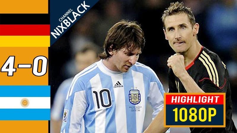 Germany 4-0 Argentina 2010 W.C Quarter Finals All goals Highlights FHD1080P