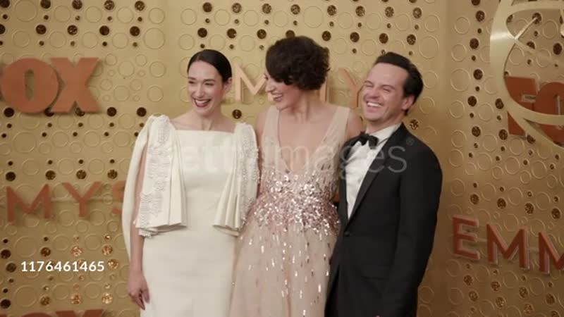 Phoebe Waller Bridge Sian Clifford and Andrew Scott at the 71st Emmy Awards Arrivals