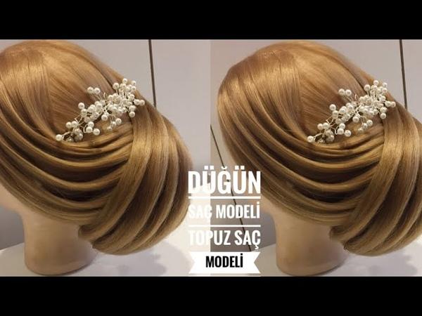 Düğün Saç Modelleri Topuz Saç Modelleri