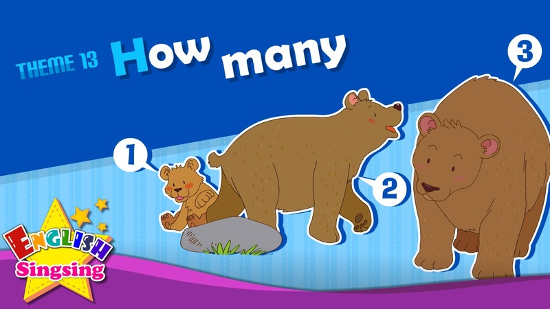 Theme 13 How many How many apples ESL Song Story Learning English for Kids