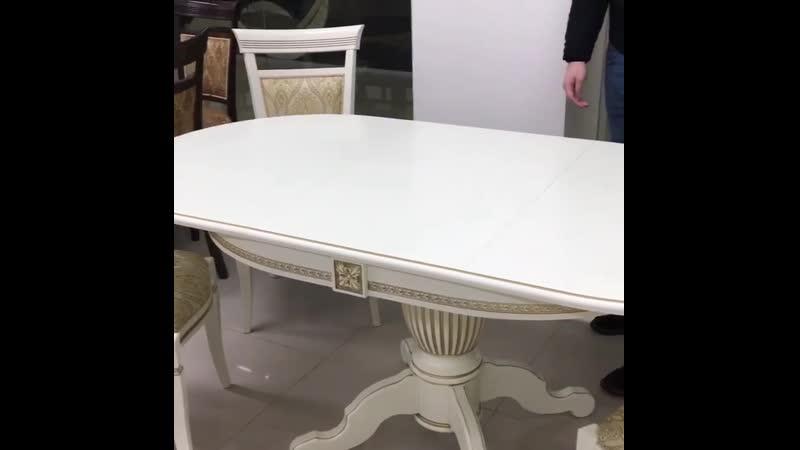 """Овальный стол из массива бука """"Орех"""" Размер 90*130 (+50 ) см. в развернутом виде: 1800*900мм от компании Производитель мебели msad5 - видео 1"""
