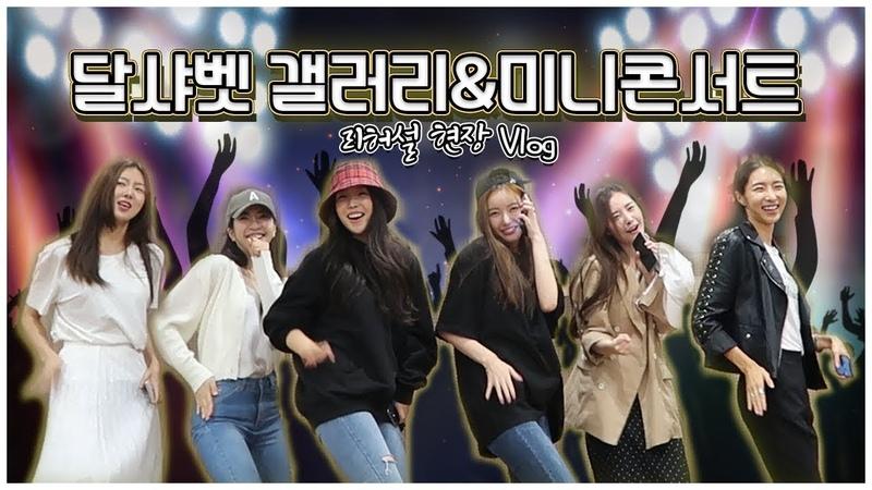 VLOG 달샤벳 미니콘서트 준비 리허설🎤 갤러리 콘서트 브이로그 걸그룹