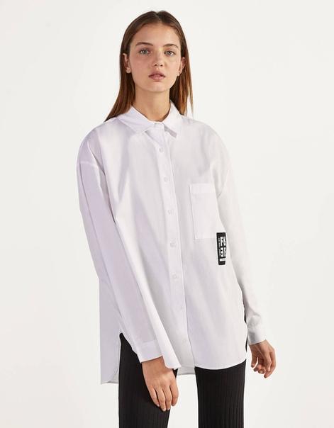 Рубашка из поплина с разрезами