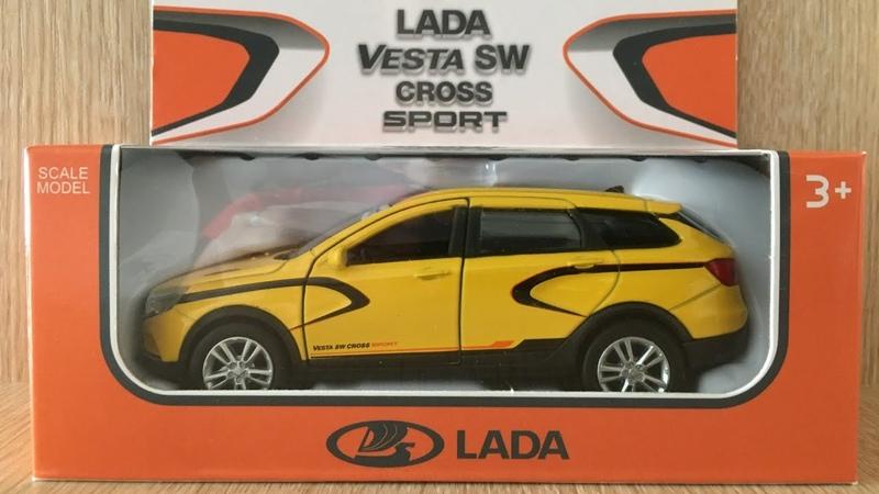 LADA Vesta SW CROSS SPORT. Игрушечная модель фирмы Welly.