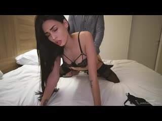 Страстный секс с молоденькой шлюшкой - она любит когда я кончаю в её киску