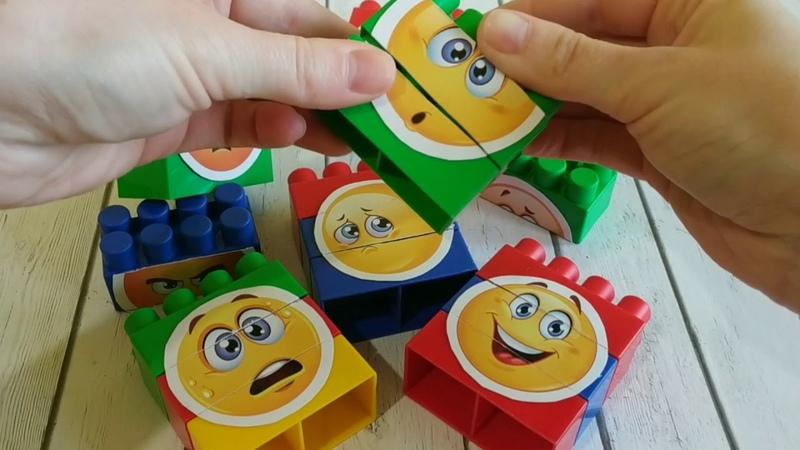 Дидактическая игра для детей Собери эмоции Время Детей
