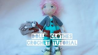 Tilda doll spring jumpsuite crochet tutorial