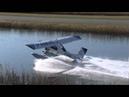 PZL-104 Wilga 35 On Floats Water Takeoff CSU3