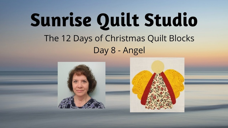 Angel - The 12 Days of Christmas Quilt Blocks - Day 8