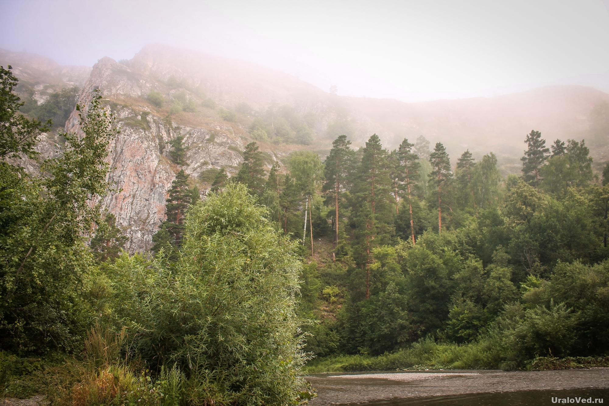 Туман в Мурадымовском ущелье