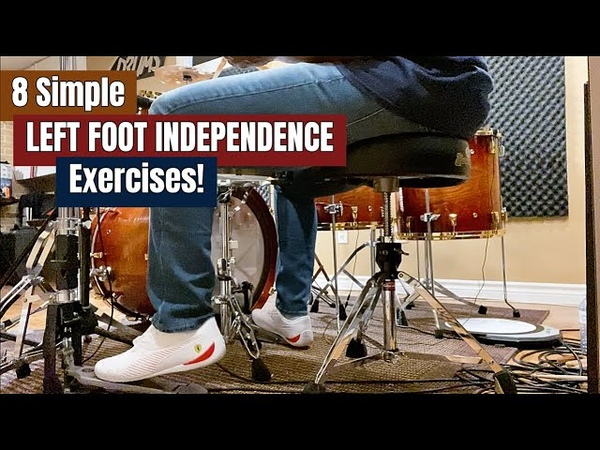 8 SIMPLE LEFT FOOT INDEPENDENCE EXERCISES You Should Be Doing! (Practice Aid Video)