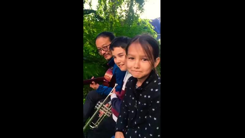 Veinte años Canción habanera cantada por una familia franco coreana Full