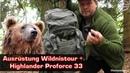Ausrüstung für Wildnis Wanderung Kroatiens Rucksack Highlander Pro Force 33 Gear Review