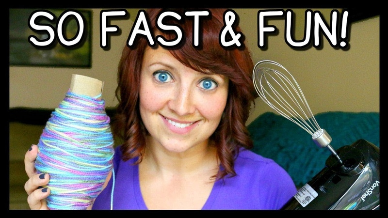 How To Roll Yarn Into A Ball FAST! | Crochet Knitting Tips! 📍 How To With Kristin
