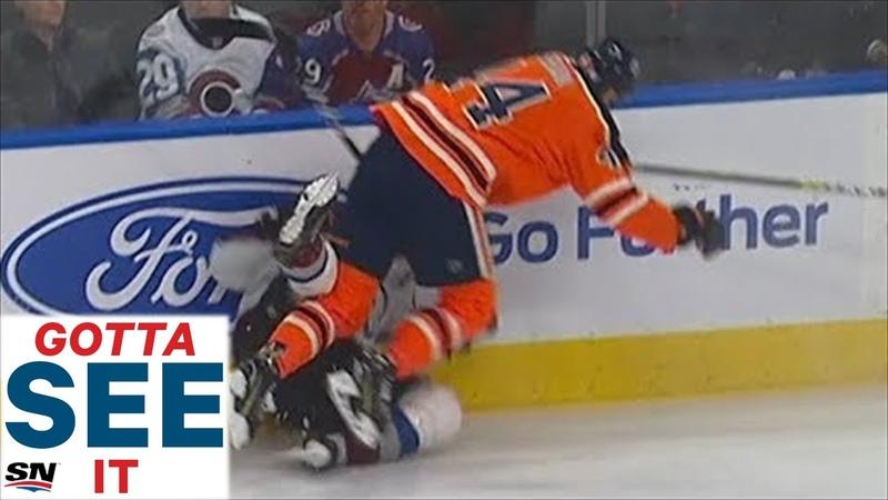 GOTTA SEE IT: Zack Kassian Lays Out Nathan MacKinnon With Huge Hit Then Fights Matt Calvert