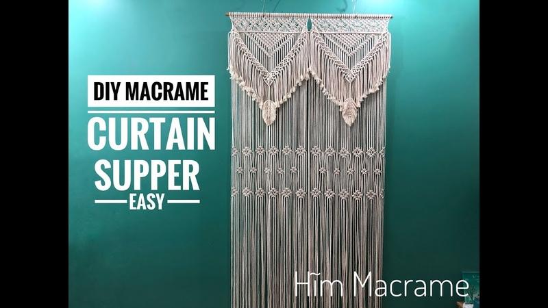 DIY Macrame Curtain Supper Easy Hướng dẫn thắt rèm macrame sang trọng dễ làm