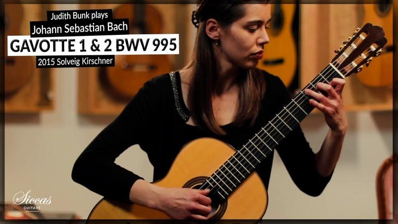 Judith Bunk plays Gavotte 1 2 BWV 995 by Johann Sebastian Bach on a 2015 Solveig Kirschner (2021)