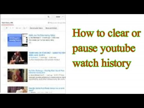 How to clear or pause youtube watch history
