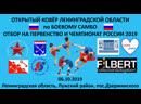 Отбор на Первенство и Чемпионат России 2019 по Боевому САМБО