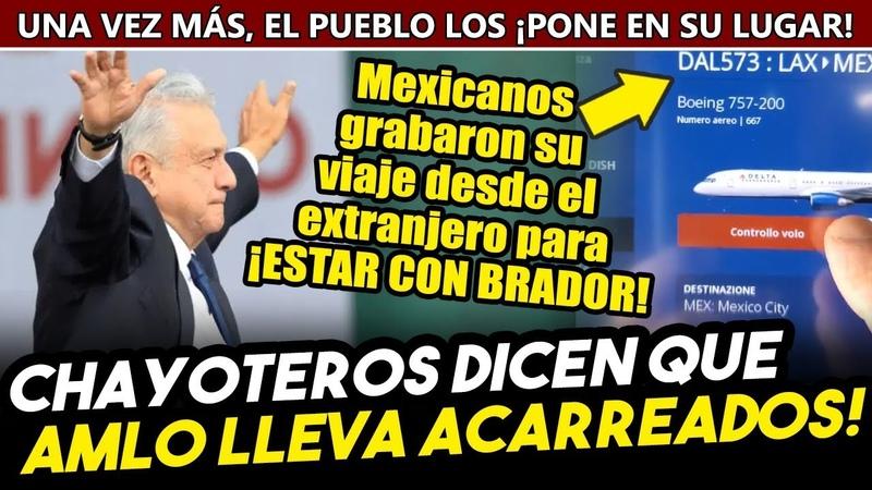 Mexicano graba su viaje al AMLOFEST desde el extranjero y calla a prensa que anuncia acarreados
