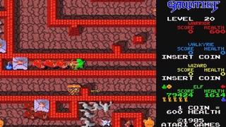 1985 Gauntlet Arcade Old School game Playthrough Retro games