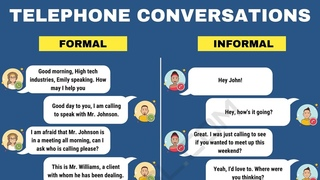 Must-Know Phrases to Speak English Fluently on the Phone Formal and Informal Phone Conversations