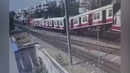 Hyderabad: Collision between MMTS and passenger train caught on CCTV camera