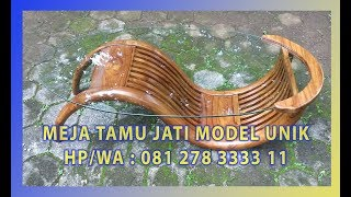 Jual Meja Tamu Jati Unik Model Es By Jepara Indah Furniture